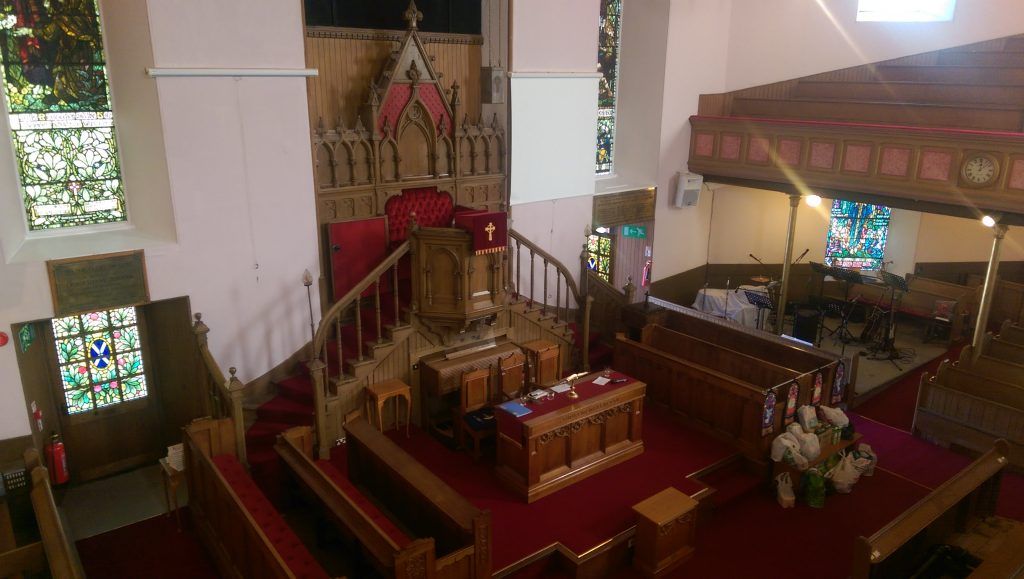 An images of the inside of Johnstone High Parish